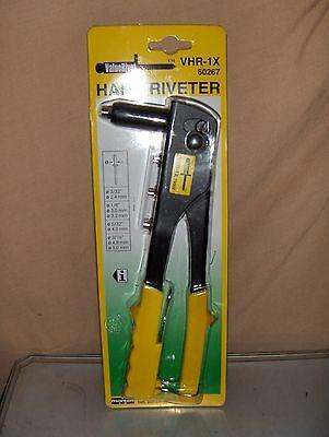 New 1x Riveter Gun Blind Rivet Hand Tool Kit Gutter Repair Heavy Duty Marson