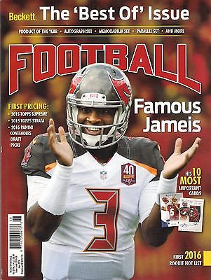 Beckett FOOTBALL Best Of Issue June 2016 Jameis Winston 10 Top Cards Rookie