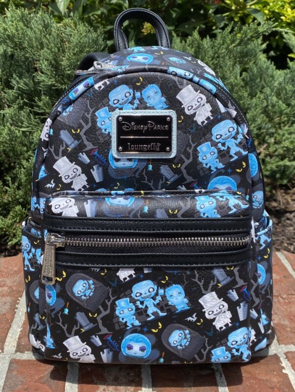 2021 Disney Parks The Haunted Mansion Funko Pop Loungefly Mini Backpack Bag NEW