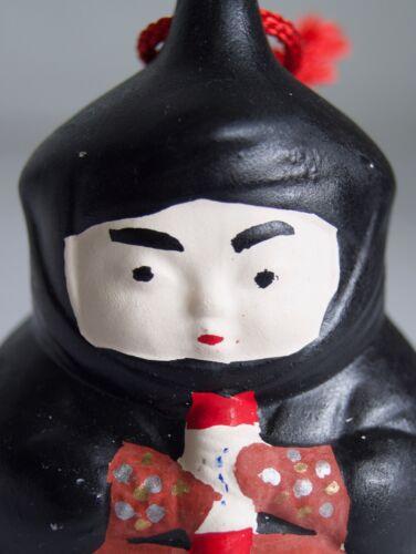Japanese Black Pottery Bell Dorei : design Ninja : by Miyazakiya Ueno-city