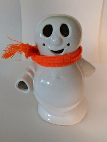 McCoy Limited Pottery Halloween Ghost Candle Votive with Original Scarf M130