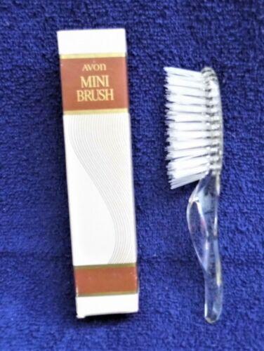 "Vintage Avon ""Crystal"" Mini Hair Brush 6""  New Old Stock In Original Box"