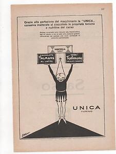 Pubblicita-vintage-TALMONE-UNICA-CIOCCOLATO-advert-reklame-werbung-publicite
