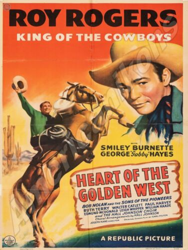 Roy Rogers King of the Cowboys NEW Metal Sign: Heart of the Golden West Movie