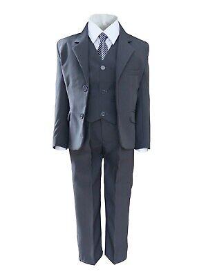g grau Festlicher Kinderanzug Kommunion Hochzeit Festanzug (Jungen Kommunion Anzug)