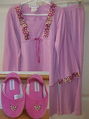 American Girl Pajama and Slipper Set for Girl and Doll - Size S - Match Julie!!