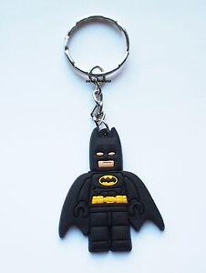 Batman Lego Keyring Bagcharm Keychain Zip puller Rubber PVC UK Seller