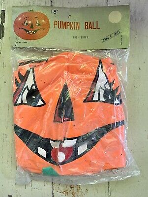 Vtg 70s Inflatable PUMPKIN BALL Halloween Decoration JENNIE G SALES Taiwan](Halloween Decoration Sale)