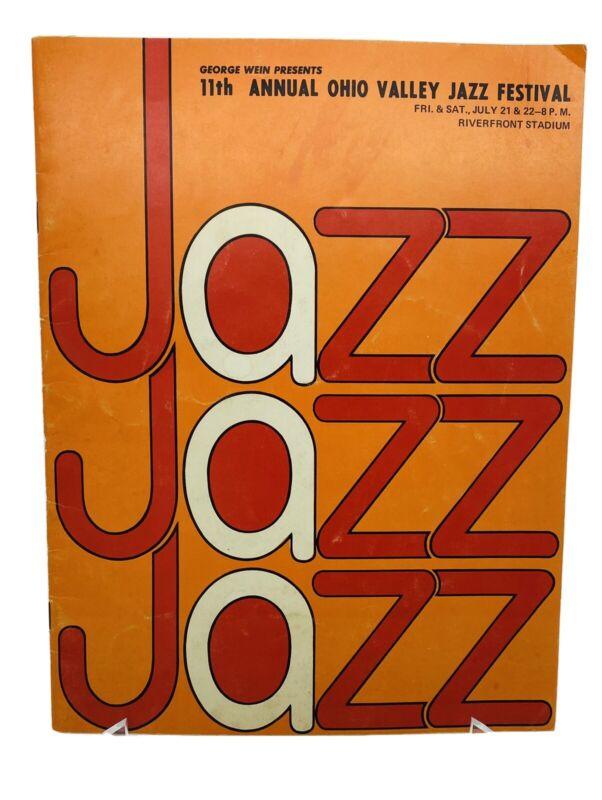 1972 11th Annual Ohio Valley Jazz Festival Program Riverfront Stadium Ike & Tina