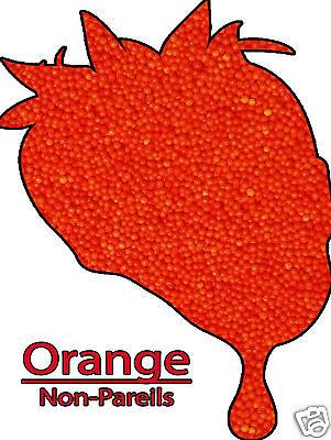 Christmas Edible Orange Non Pareils Sprinkles Jimmies Confetti 8 oz - Orange Sprinkles