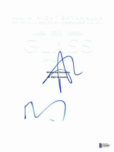 M NIGHT SHYAMALAN ANYA TAYLOR JOY SIGNED AUTO GLASS FULL SCRIPT BECKETT