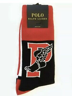 Polo Ralph Lauren 1992 Winter Stadium P-Wing Sock Soft Knit Vintage Graphics NWT