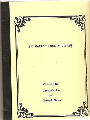 1870 Federal census book  Harlan county Ky