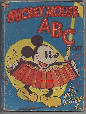 A MICKEY MOUSE ABC STORY by WALT DISNEY RARE 1936 VINTAGE BOOK DONALD DUCK COMIC