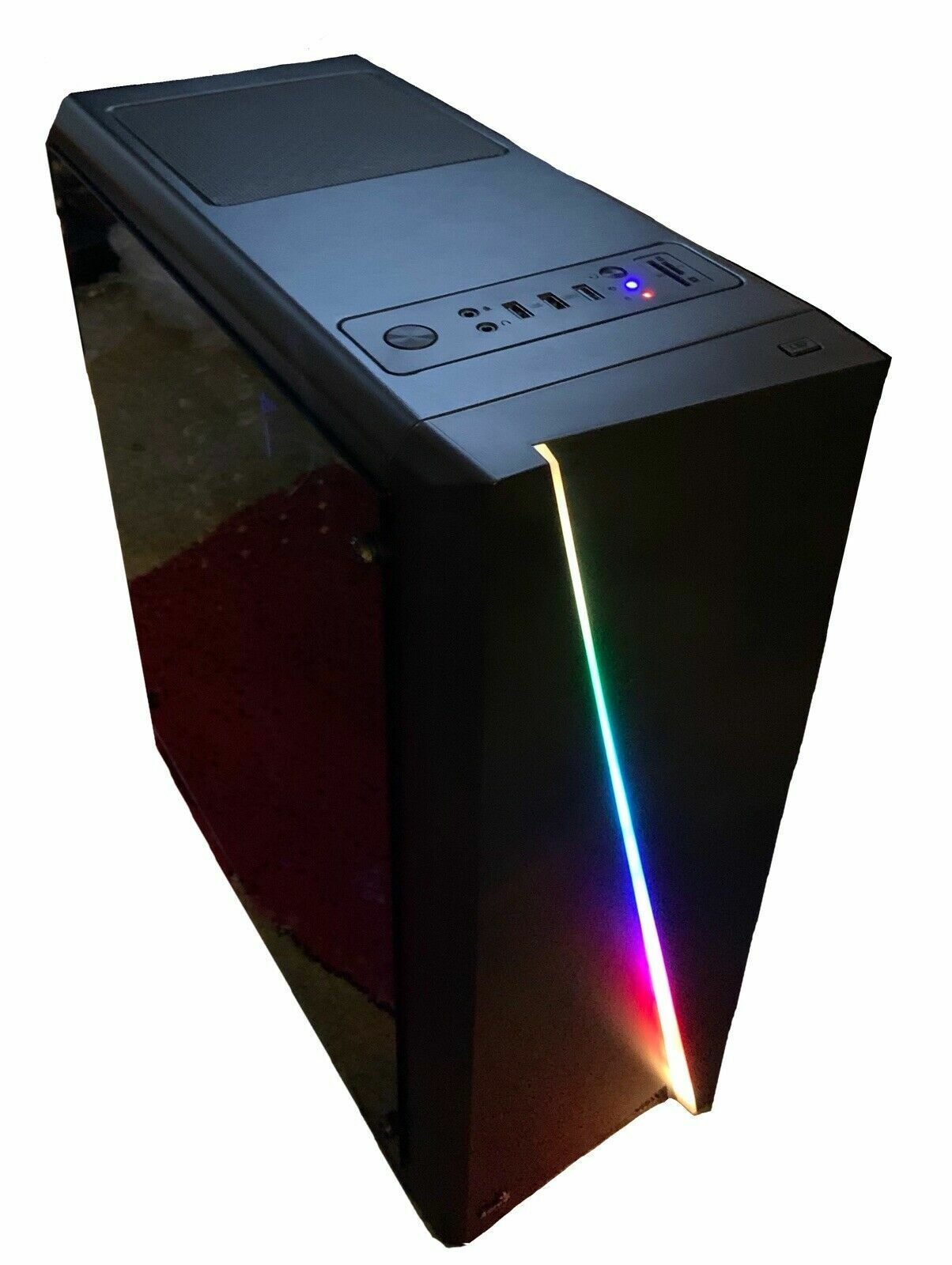 Computer Games - Brand New Custom Built Computer, Great For Games Like Fortnite, Mid-Tower, Black