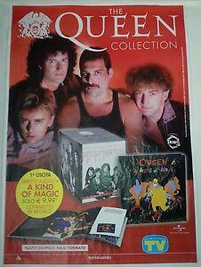 PROMO POSTER QUEEN collection EDICOLA cd Lp dvd Freddie Mercury Brian May - Italia - PROMO POSTER QUEEN collection EDICOLA cd Lp dvd Freddie Mercury Brian May - Italia