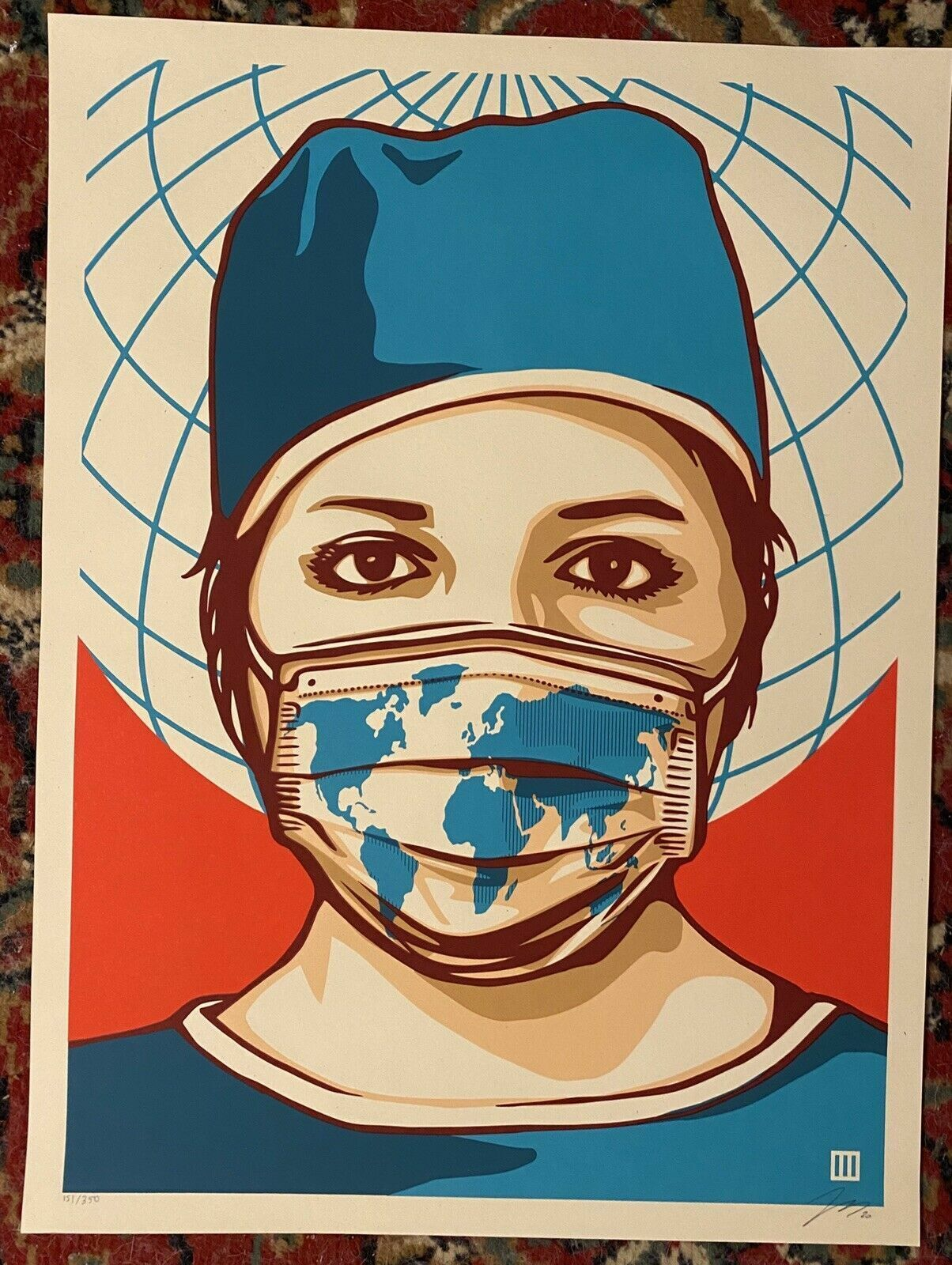 Thomas Wimberly Global Forefront Shepard Fairey Nurse Health Worker Art Print  - $249.00