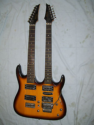 Double neck  guitar, 6 and 7 string, custom made