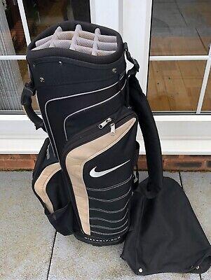 Nike Full Size Golf Trolley Bag In Black With Beige Trim