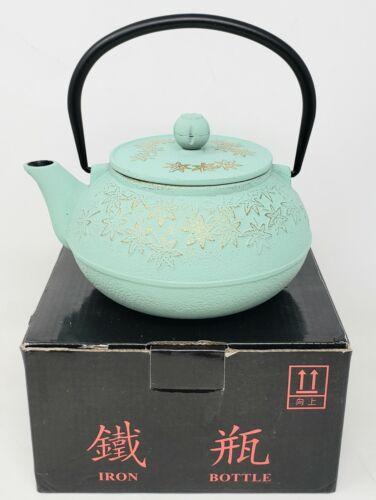 Japanese Cast Iron Teapot 30 oz./900mL Green W/ Screen