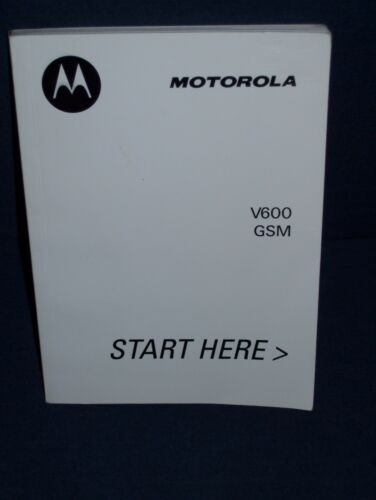 Motorola V600 GSM Phone Instruction Booklet