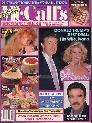 McCalls February 1989 Donald Trump Ivana Trump Tom Selleck  092917nonDBE