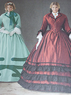 SIMPLICITY #1818-LADIES SOUTERN BELLE-GONE WITH THE WIND COSTUME PATTERN  8-24FF