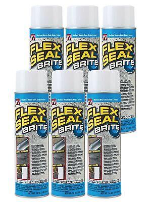 Flex Seal Spray Rubber Sealant Coating 14-oz Brite 6 Pack