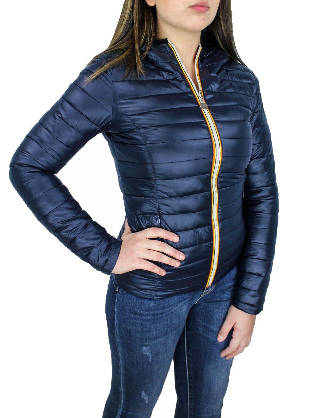 cheap for discount 15135 6d226 Giubbotto piumino donna blu scuro casual giacca 100 grammi ...
