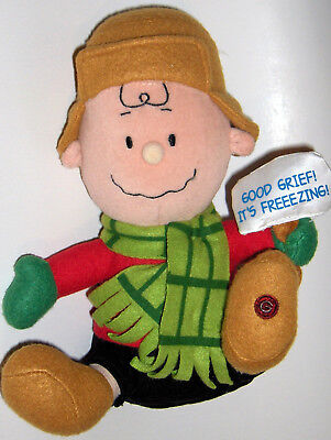 "CHARLIE BROWN  GOOD GRIEF IT'S FREEZING! PEANUTS 10"" PLUSH CHARLIE BROWN"