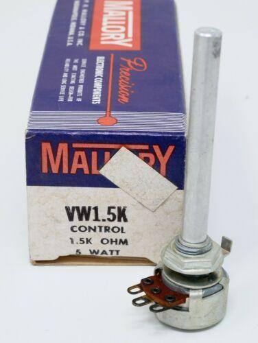 MALLORY 1.5K OHM 5 WATT POTENTIOMETER VW-1.5K NOS