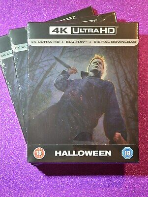 New UK Limited Edition Steelbook HALLOWEEN 4K (2018 Film) Brand New + Sealed - Halloween Films Uk