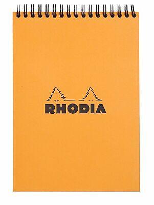 Rhodia Wirebound Notebook 6 X 8 Lined Paper Orange