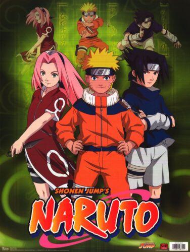 TV POSTER~Naruto Green Cast Print Shonen Jump Ninja Viz Manga Comics Jap. Anime~