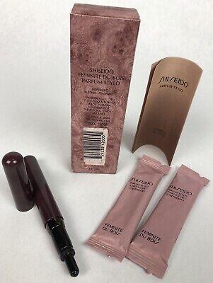 Shiseido Feminite Du Bois Parfum Stylo Pen & Cartridge 1.8 ML (2 x .9 (Parfum Feminite Dubois)