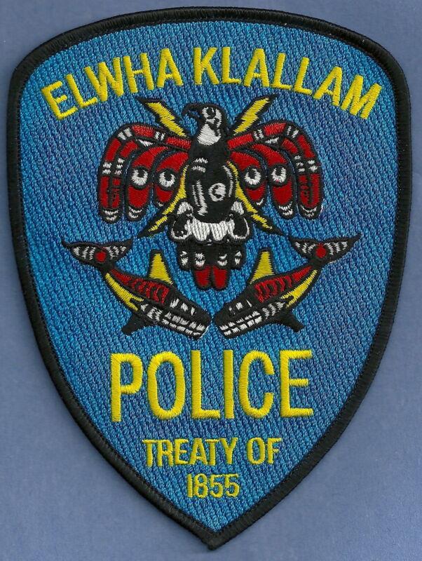 ELWHA KLALLAM WASHINGTON TRIBAL POLICE SHOULDER PATCH