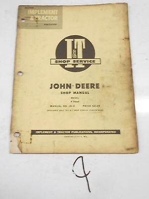 R Diesel John Deere Tractor It Shop Service Manual Vintage R Diesel Jd-3