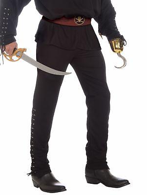 Buccaneer Pirate Black Pants Costume Adult Men Std Halloween Medieval Colonial - Pirate Pants For Men