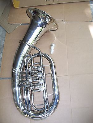 Euphonium with case and mouthpiece, 4 rotary valve