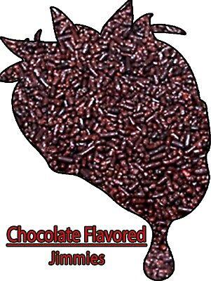 - Edible Chocolate Brown Flavored Jimmies Sprinkles 8 oz.