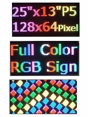25x 12 Rgb Full Color P5 Led Sign Programmable Scrolling Message Display