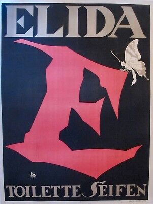 1921 JULIUS KLINGER ELIDA RARE POSTER BERLIN FASHION ART DECO DESIGN ICONOGRAPHY