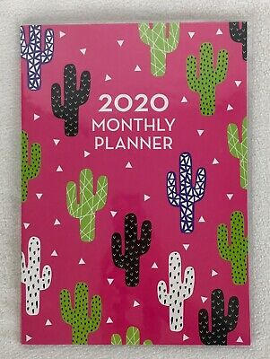 2020 Cactus Monthly Planner Calendar Organizer Appointment Book Agenda 7 X 9