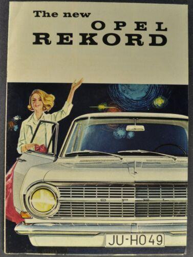 1963 Opel Rekord Sedan Sales Brochure Folder Excellent Original 63