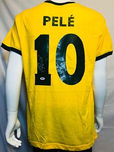 e249af441ae Pele Signed Autographed Brazil Soccer Jersey - PSA/DNA