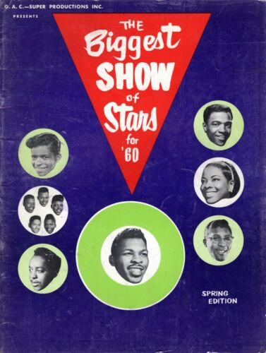 LLOYD PRICE / JIMMY REED/BO DIDDLEY 1960 BIGGEST SHOW STARS CONCERT TOUR PROGRAM