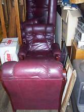 red leather sofa Welshpool Canning Area Preview
