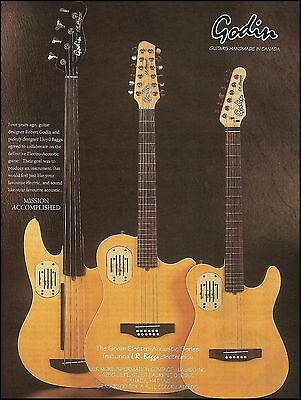 The 1993 Godin Electro-Acoustic Series with L.R. Baggs electronics 8 x 11 ad