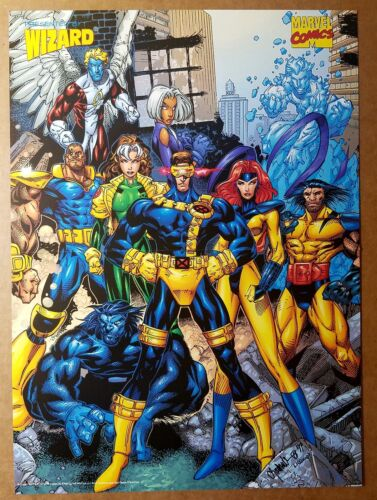 X-Men Cyclops Jean Grey Wolverine Rogue Beast Marvel Poster by Chris Bachalo