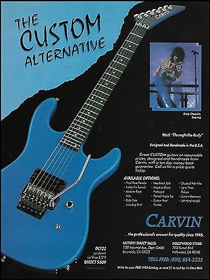 Jefferson Starship Craig Chaquico Carvin DC125 electric guitar 8 x 11 ad print